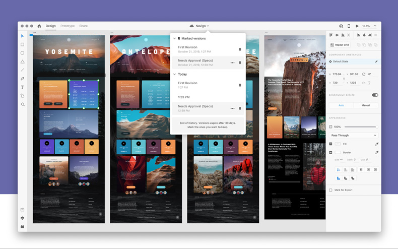پروژه Adobe XD