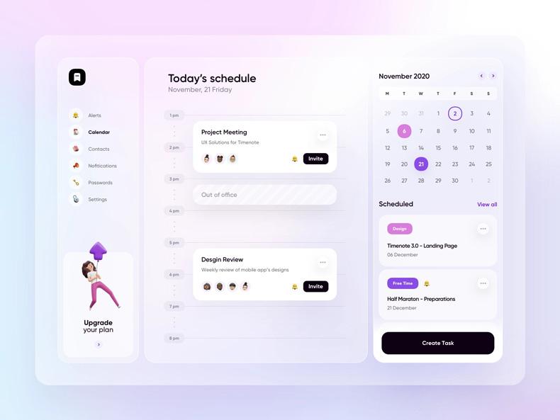 نمونه طراحی UI