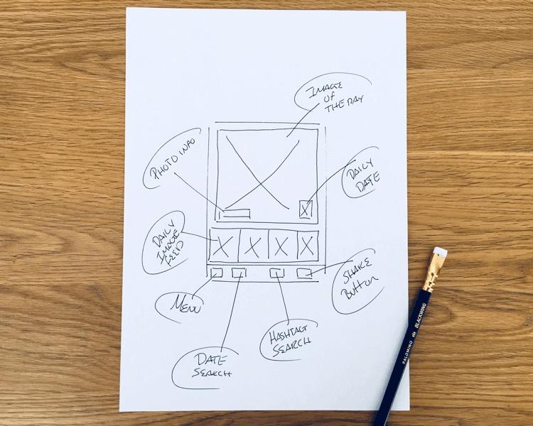 اسکچ ها در طراحی ui